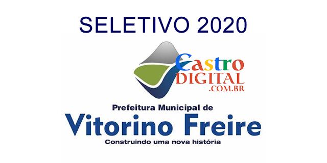 Edital do seletivo 2020 da Prefeitura de Vitorino Freire – MA para contrato temporário