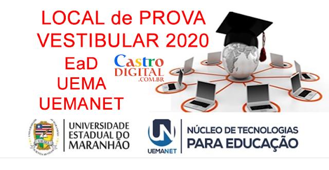 Local de prova do vestibular 2020 EaD UEMA/UEMANET para cursos de graduação a distância – Seletivo simplificado e impressão do cartão de confirmação de inscrição