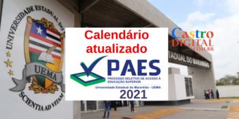 Calendário atualizado do PAES 2021 – Vestibular UEMA e UEMASUL