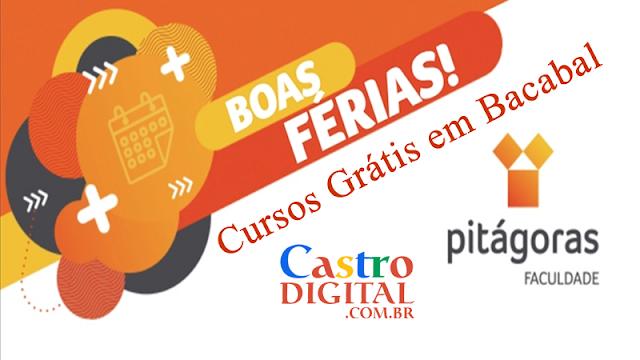 Inscrições para cursos grátis na Pitágoras de Bacabal nas férias de fevereiro/2020