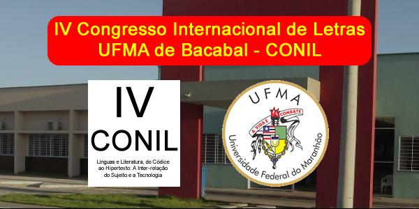 Convite para o IV CONIL na UFMA de Bacabal – Congresso Internacional de Letras