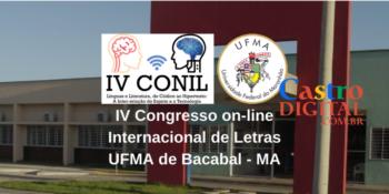 Convite para o IV CONIL – UFMA de Bacabal – Congresso on-line Internacional de Letras 2021