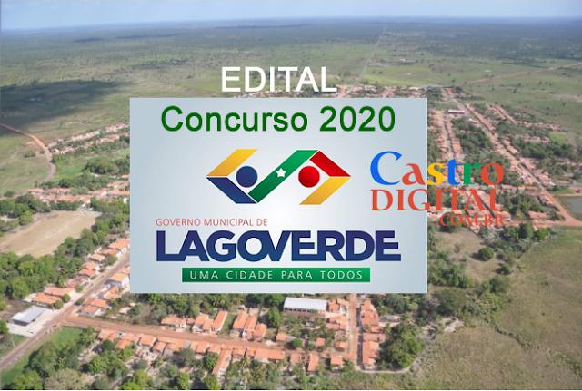 EDITAL do concurso 2020 da Prefeitura de LAGO VERDE – MA
