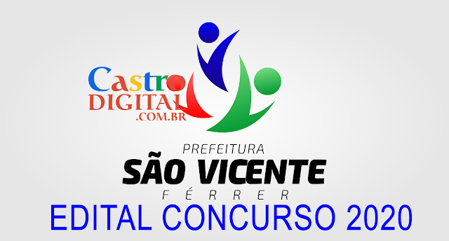 EDITAL do concurso 2020 da Prefeitura de SÃO VICENTE FERRER – MA
