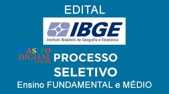 Editais do seletivo 2020 do IBGE para nível fundamental e médio – Recenseador e Agente Sensitário