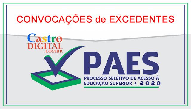 Convocação de excedentes do vestibular PAES 2020 – UEMA e UEMASUL para matrícula no primeiro semestre 2020.1