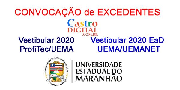 Convocação de excedentes dos Vestibulares 2020 ProfiTec e EaD UEMA/UEMANET