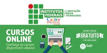 Institutos Federais (IFs) oferecem cursos on-line grátis