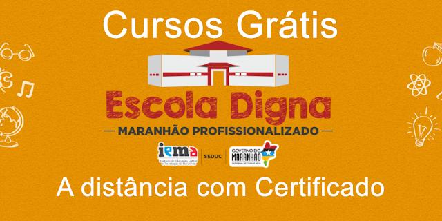 Inscrições para cursos grátis na plataforma Maranhão Profissionalizado – a distância e com certificado