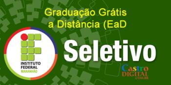 Seletivo 2020 para graduação grátis no IFMA a distância (EaD) – Edital 37/2020