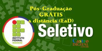 Inscrição para pós-graduação grátis a distância no IFMA termina 7 de junho – Edital 32/2020