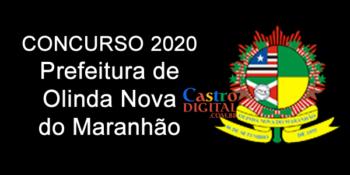 Edital do concurso 2020 da Prefeitura de Olinda Nova do Maranhão – MA