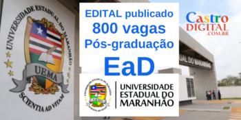 UEMA: Edital do seletivo 2020 de Pós-graduação EaD grátis na área de educação
