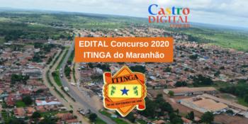 Edital do concurso 2020 da Prefeitura de Itinga do Maranhão