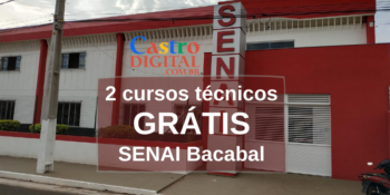 SENAI abre 60 vagas em 2 cursos técnicos grátis em Bacabal – Edital 03/2020