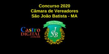Edital do concurso 2020 da Câmara de São João Batista – MA