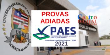 UEMA suspende provas do PAES 2021 por causa da Pandemia