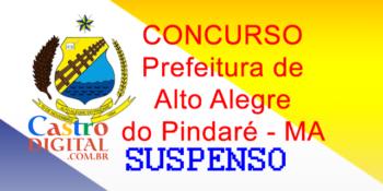 Suspenso concurso 2020 de Alto Alegre do Pindaré por decisão judicial liminar