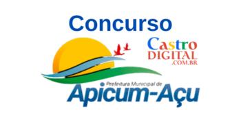 Edital do concurso 2020 da Prefeitura de Apicum-açu – MA
