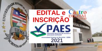 Edital e inscrição do vestibular PAES 2021 – UEMA e UEMASUL