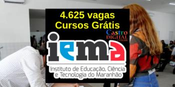 IEMA abre inscrição em 4.625 vagas em cursos grátis de qualificação profissional