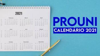 Calendário do Prouni 2021.1 divulgado pelo Ministério da Educação (MEC)
