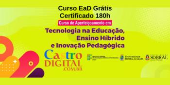 Universidade Federal abre curso EaD grátis com Certificado de 180h na área de Tecnologia e Educação