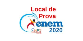 Local de prova do ENEM 2020 e cartão de confirmação de inscrição