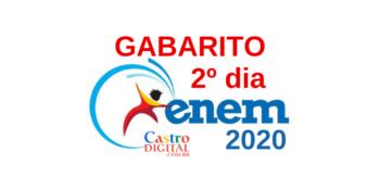 Gabarito do 2º dia de prova do ENEM 2020 e correção comentada