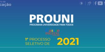 Inscrição e vagas para o Prouni 2021.1