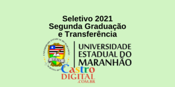 UEMA abre 2.015 vagas para segunda graduação ou transferência – Edital 01/2021