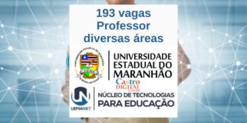 UEMA abre seletivo com 193 vagas para Professor – Editais UEMANET 20 e 22/2020