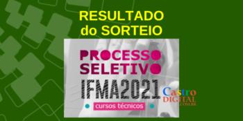 Resultado do sorteio do seletivo 2021 do IFMA para cursos técnicos