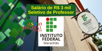 Seletivo IFMA para professor de Filosofia, Biologia e Mecânica – Edital 10/2021