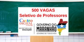 Seduc-MA abre 500 vagas para professores no Maranhão – Edital 06/2021 do seletivo para Educação do Campo e Quilombola