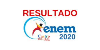Resultado da prova do ENEM 2020 e consulta de desempenho