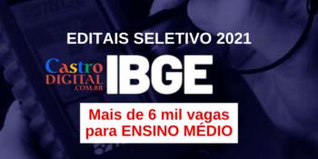 Editais dos seletivos 2021 do IBGE para nível médio com vagas no Maranhão