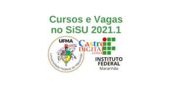 Lista de cursos e vagas na UFMA e no IFMA pelo SiSU 2021.1