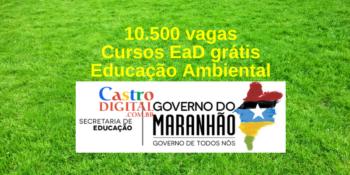 Seduc-MA abre 10,5 mil vagas em cursos EaD grátis de Educação Ambiental – Edital 15/2021