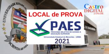 Local de prova do PAES 2021 – Vestibular UEMA e UEMASUL e impressão do cartão de confirmação de inscrição