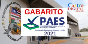 Gabarito da prova do PAES 2021 – Vestibular UEMA e UEMASUL e regras de classificação e eliminação