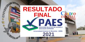 Resultado final do PAES 2021 – Vestibular UEMA e UEMASUL – Listas de classificados e consulta de desempenho individual